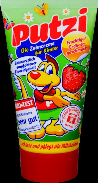 Putzi Kinder Zahncreme Erdbeer, 50 ml