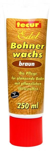 Tecur Bohnerwachs Braun Tube, 250 ml