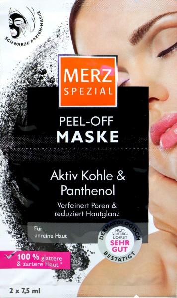 Merz Spezial Peel-Off Maske Aktiv Kohle & Panthenol, 2 x 7,5 ml