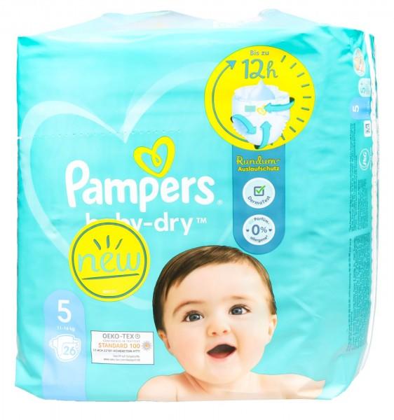 Pampers Baby Dry Windeln 5 (11 - 16 kg), 31 er