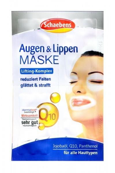 Schaebens Augen + Lippen Maske Q 10, 4 x 1,5 ml