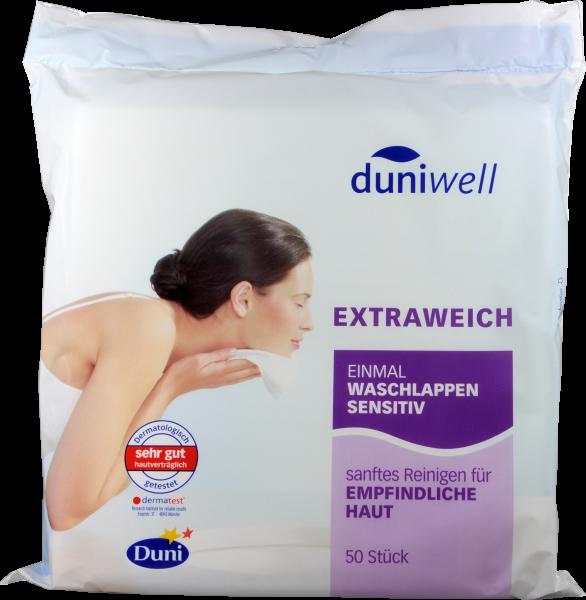 Duniwell Waschlappen Sensitiv, 50 er