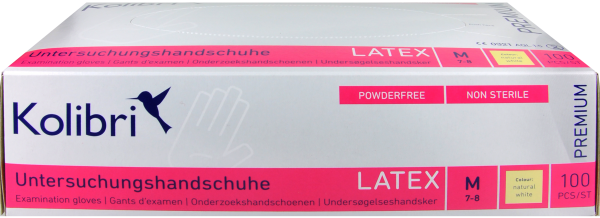 Kolibri Premium Latex Handschuh M, 100 er