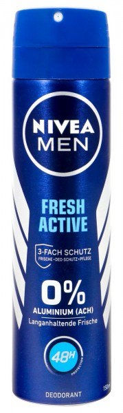 Nivea Men Deo Spray Fresh Active, 150 ml