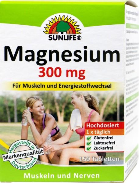 Sunlife Magnesium 300 Tabletten, 150 er