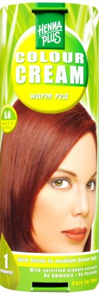Hennaplus Colour Cream Warmes Rot, 5.6