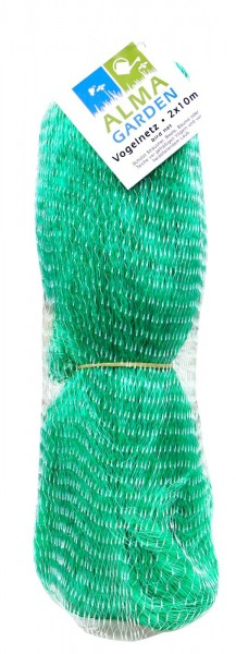 Vogelnetz grün, Maschenweite 40 x 40 mm, 2 x 10 m