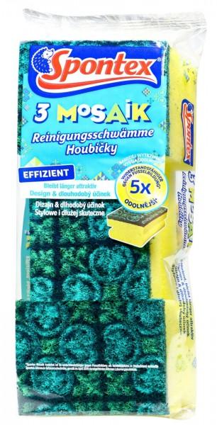 Spontex Topfreiniger Tuch Mosaik, 3 er