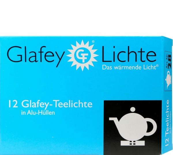 Teelichter Glafey Alu-Hülle, 12 er