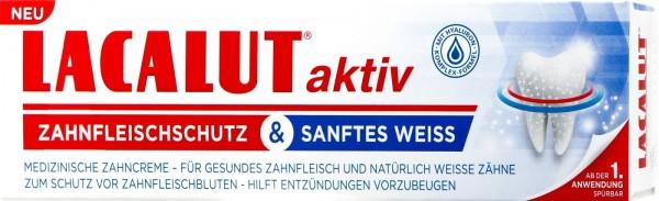 Lacalut Aktiv Zahncreme Zahnfleischschutz & Sanftes Weiss, 75 ml